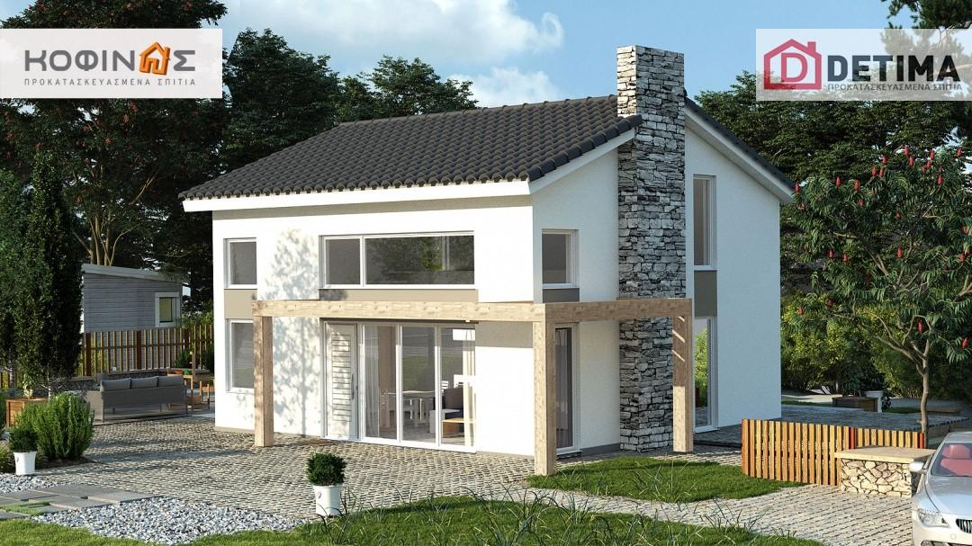 Ισόγεια Κατοικία με Σοφίτα KIS2-100, συνολικής επιφάνειας 100,37 τ.μ.