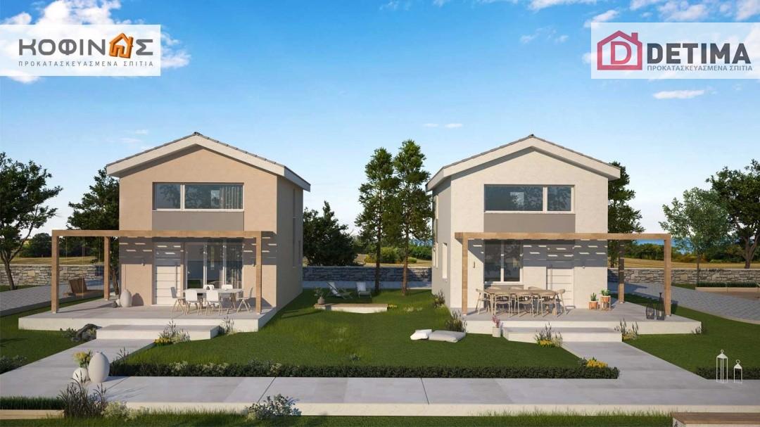 Συγκρότημα Κατοικιών E-63, συνολικής επιφάνειας 3 x 63,35 = 190,05 τ.μ.