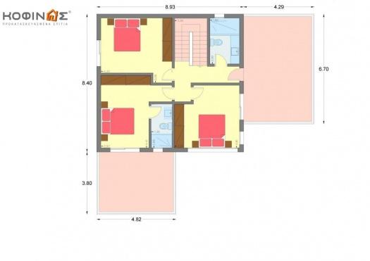 Διώροφη Κατοικία D-161, συνολικής επιφάνειας 161.27 τ.μ.