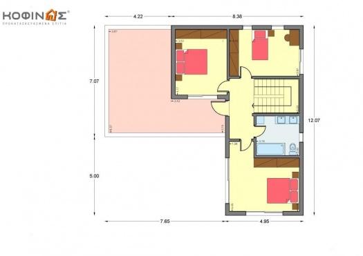 Διώροφη Κατοικία D-189, συνολικής επιφάνειας 189,61 τ.μ.