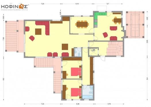 Διώροφη Κατοικία D-378, συνολικής επιφάνειας 378,24 τ.μ.